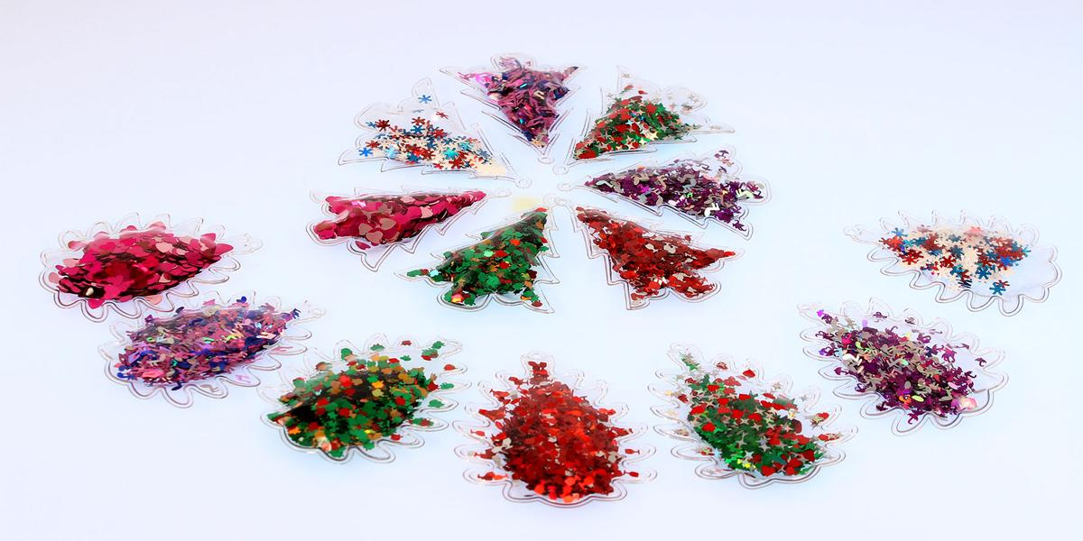 Елочные игрушки из пленки PVC